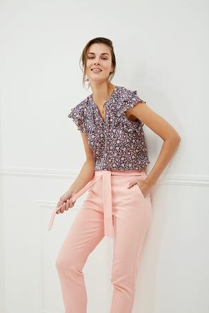 Pantalon Rosa Claro