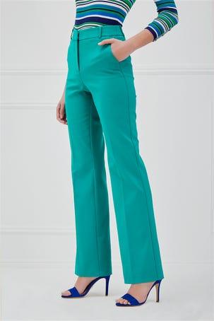 Pantalon Verde Acampanado