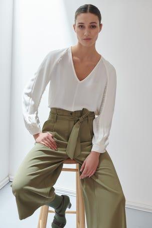 Pantalon Amplio Verde