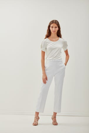 Pantalon Entubado Blanco
