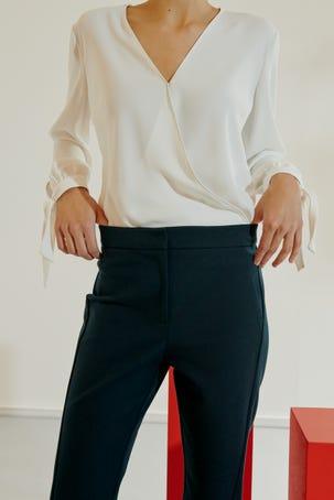 Pantalon Entubado Azul Marino