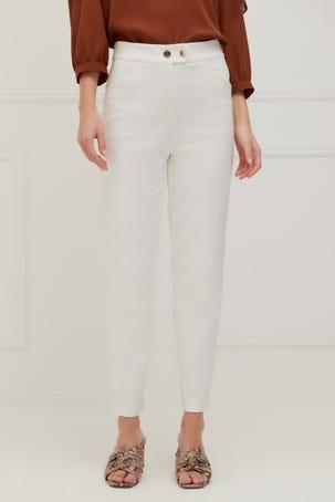 Pantalon Entubado Blanco