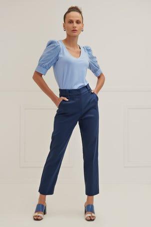 Pantalon Recto Azul