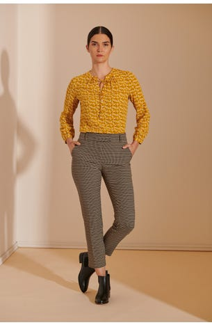 Pantalon Textura Geometrica