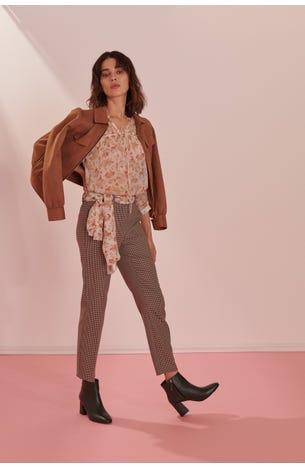 Pantalon Entallado Geometrico