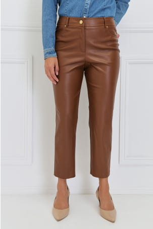 Pantalón Recto Piel