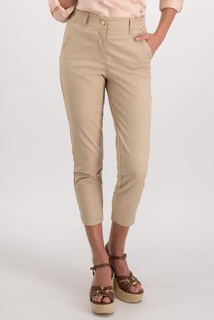 Pantalon Beige De Algodon