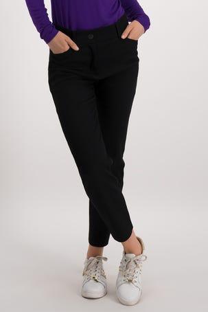 Pantalon Negro Con Textura