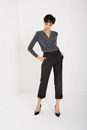 Pantalon  Recto Con Doblez