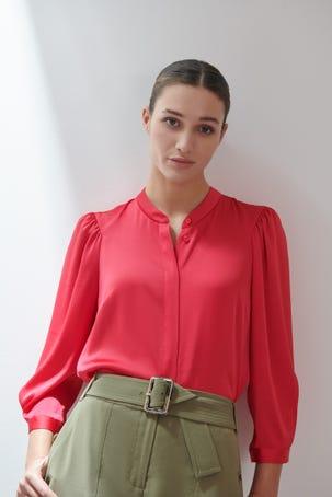 Blusa Rosa Satinada