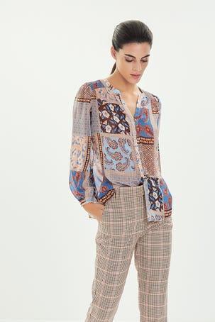 Blusa Estampado Patchwork