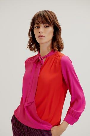 Blusa Cruce Bicolor