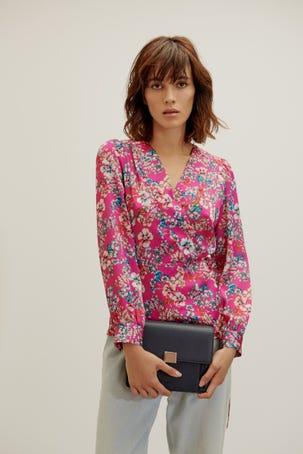 Blusa Satin Flores