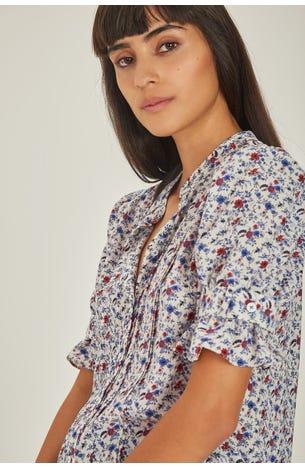 Blusa Crepe Flores
