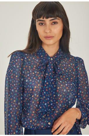Blusa Chifon Flores