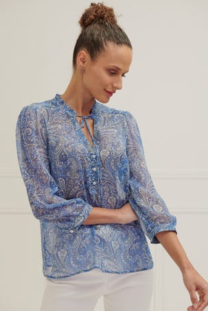 Blusa Escarola Estampado Paisleys