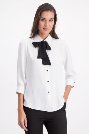 Camisa Blanca Con Corbatin