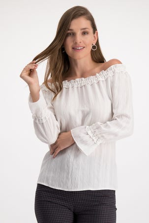 Blusa Bardot Blanca