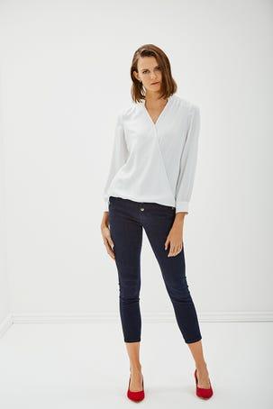 Camisa  Envolvente Blanca
