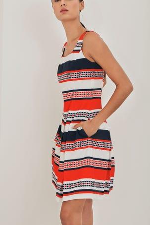 Vestido De Franjas Multicolor