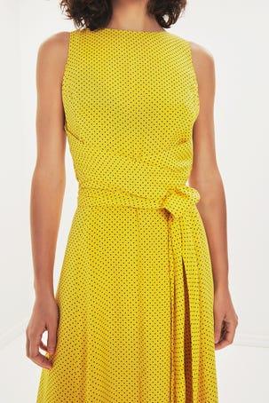 Vestido Amarillo De Lunares