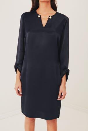 Vestido De Satin Azul