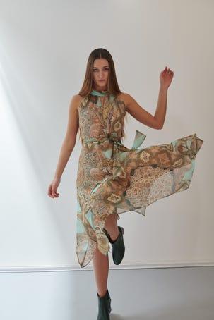 Vestido Estampado Persa