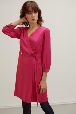 Vestido Satin Rosa