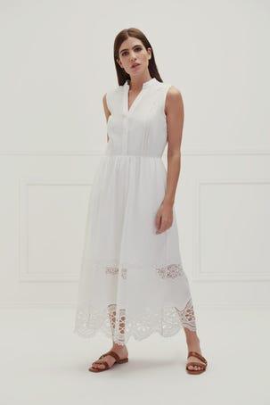 Maxi Vestido Detalles Crochet