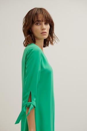 Vestido Verde Manga Campana