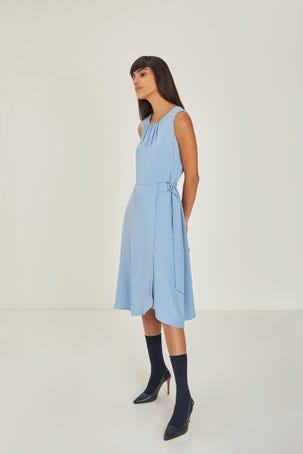 Vestido Envolvente Azul