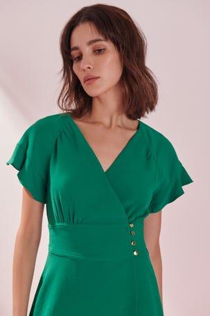 Vestido Verde Envolvente
