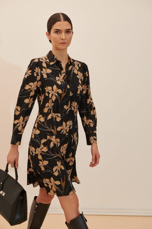 Vestido Estampado Floral Vintage