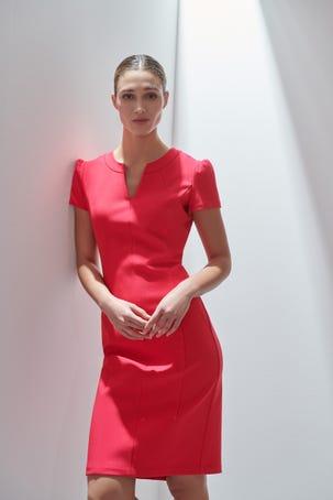 Vestido Rosa Manga Corta