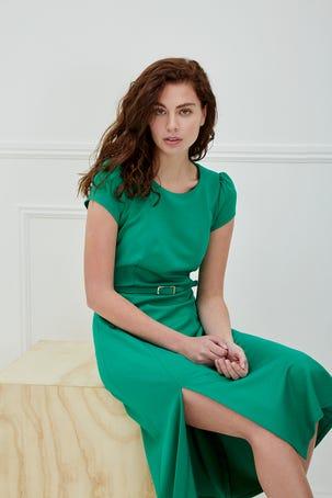 Vestido Verde Manga Corta