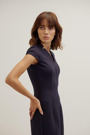 Vestido Azul Ajustado