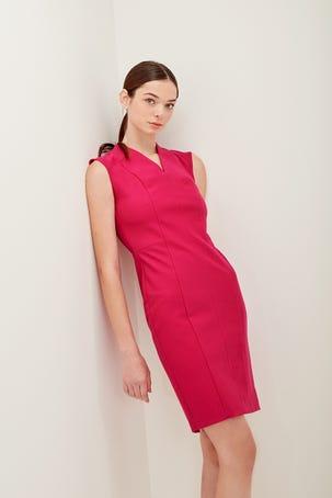 Vestido Rosa Escote V
