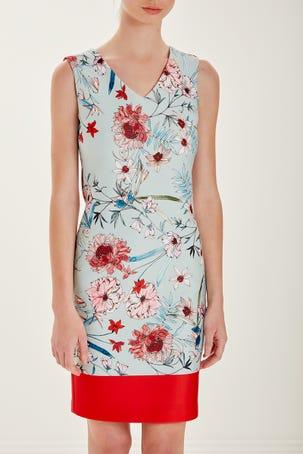 Vestido De Flores Con Cenefa