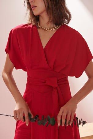Vestido Rosa Dolman Flame