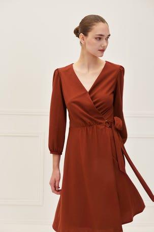 Vestido Envolvente Cinta Argolla