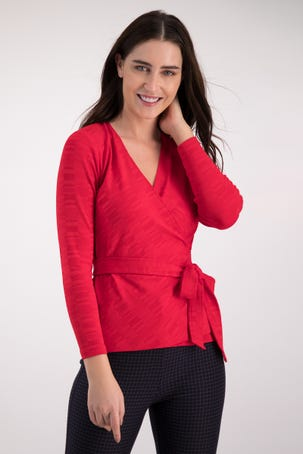 Blusa Envolvente Roja