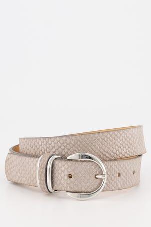 Cinturon Serpiente Plata