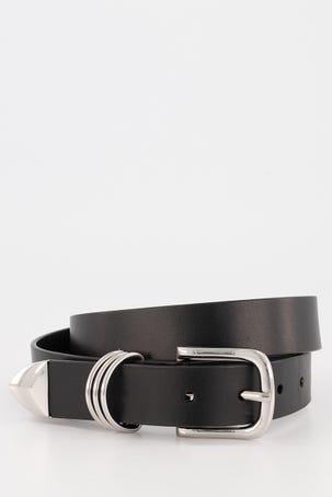 Cinturon Negro De Piel