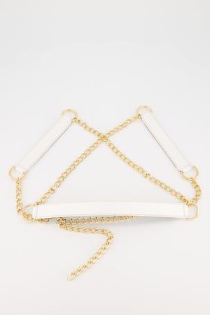 Cinturon De Cadena Con Blanco