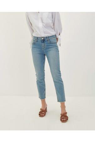 Jeans Desflecado Recto