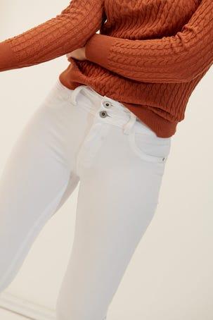 Jeans Acampanados Blanco