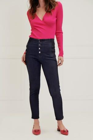 Jeans Skinny Con Botones