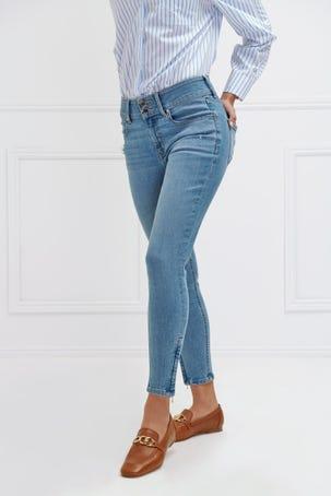 Jeans Skinny Tobillos Cremalleras