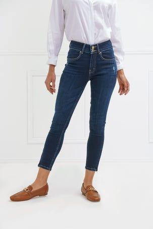 Jeans  Oscuros Con Cierres