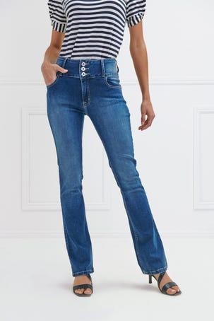Jeans Acampanados Deslavados
